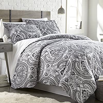 Southshore Fine Linens - The Pure Melody Collection - Comforter Sets, 3 Piece Set, Full/Queen, Black - FULL / QUEEN Size is a 3-Piece Set and contains One Comforter: 92 in wide x 92 in long, Two Shams: 20 in wide x 26 in long. Made with 240 GSM of Down Alternate Filling and our Signature 110 GSM Microfiber Fabric. BUY WITH COMPLETE CONFIDENCE - This is a Southshore Fine Linens Product and Comes with a ONE YEAR Warranty. We strive for 100% Customer Satisfaction. If for any reason you are not satisfied, please contact us and we will take care of you. Please make sure you are buying from Southshore Fine Linens or our FBA Account to qualify for this Warranty. We do not have any Authorized Dealers. We promise to do our absolute best to resolve any issues you might have. EASY CARE - Machine wash in cold. Tumble dry low. Remove Promptly. - comforter-sets, bedroom-sheets-comforters, bedroom - 61BHYg1AvqL. SS400  -
