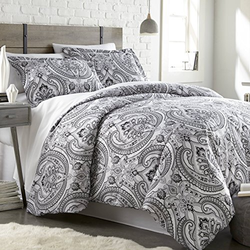 ns - The Pure Melody Collection - Comforter Sets, 3 Piece Set, King / California King, Black (California King Contemporary Comforter)
