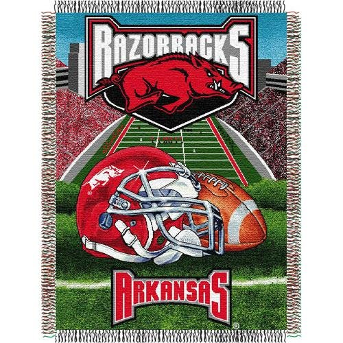 The Northwest Company Officially Licensed NCAA Arkansas Razorbacks Home Field Advantage Woven Tapestry Throw Blanket, 48