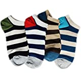 EIO Natural Cotton Unisex Loafer Socks, Low Cut Foot Cover Socks For Men and Women (4 Pairs)