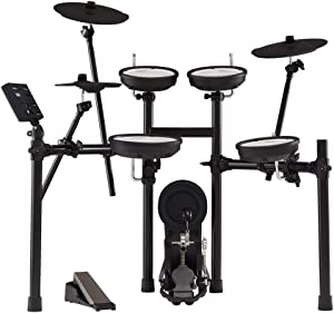 Roland TD-07KV Electronic V-Drums Kit – Legendary Dual-Ply All Mesh Head kit with superior expression and playability – Bluetooth Audio & MIDI – USB for recording audio and MIDI data – 40 FREE Melodic