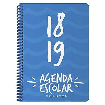 Agenda Escolar PRAXTON, Din-A5 S/V Vertical 2018/19 (Azul