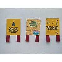 Figuras decorativas de papel para decorar el pastel. Tamaño 6 cm x 4 cm. 3 piezas N5