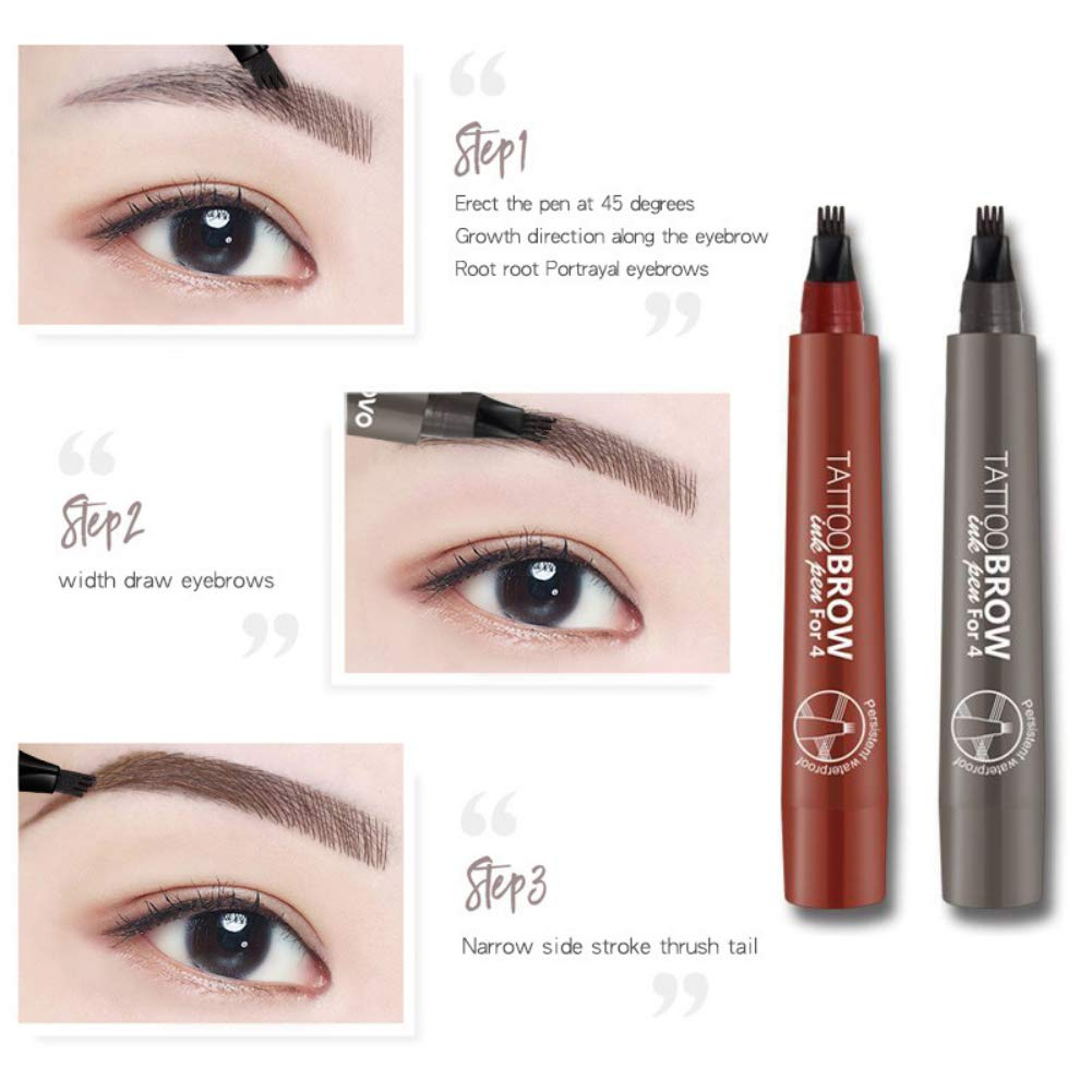 Amazon Com Tattoo Eyebrow Pencils Cocohot Waterproof Four Tips