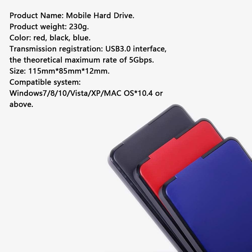 Portable USB Flash Drive Size : 320GB Removable Hard Disk USB 3.0 Mobile Hard Drive Memory Black