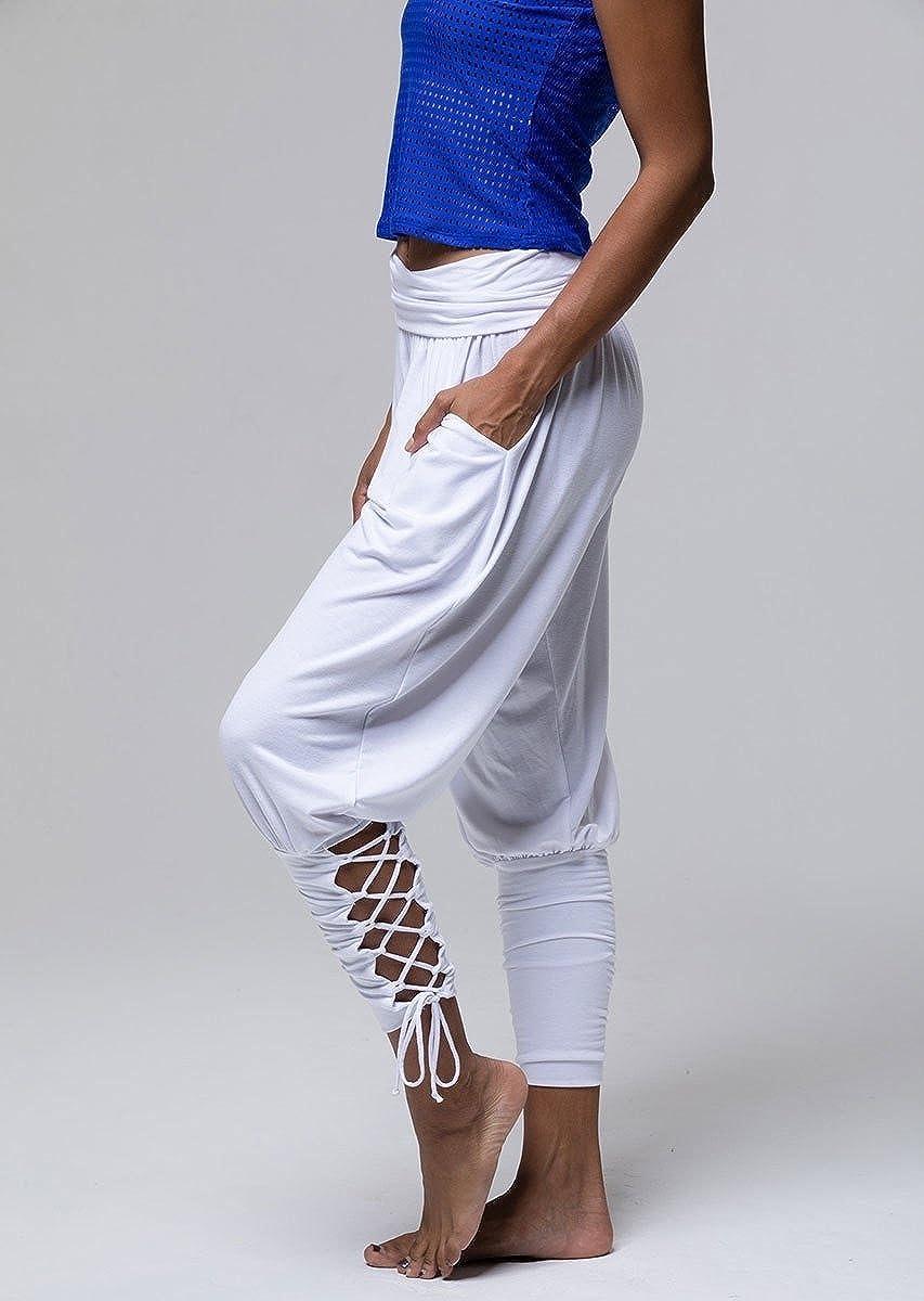 Spodat Womens Elastic Bottom High Waist Pocket Lounge Yoga Pants