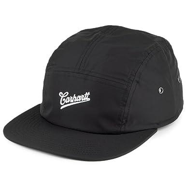 c3ac558436d Carhartt WIP Hats Strike Nylon 5 Panel Cap - Black Adjustable   Amazon.co.uk  Clothing