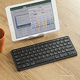 Anker Ultra Compact Slim Profile Wireless Bluetooth Keyboard with Rechargeable Battery (Compatible with New iPad 9.7\