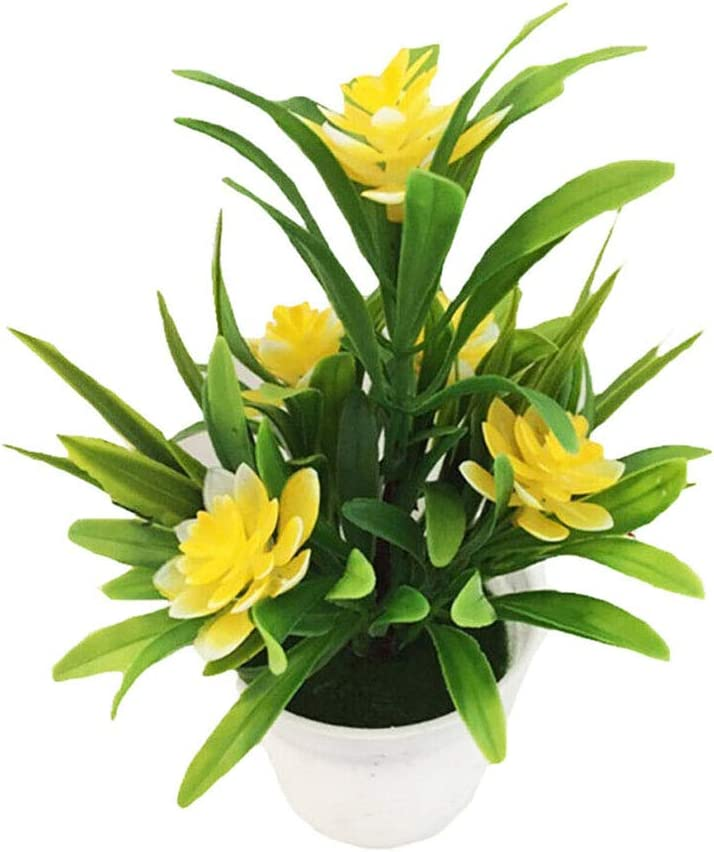 Realistic Artificial Flowers Plant In Pot Outdoor Home Office Decoration Gifts
