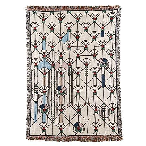 Frank Lloyd Wright April Showers Throw Blanket - All Cotton - 51' X...