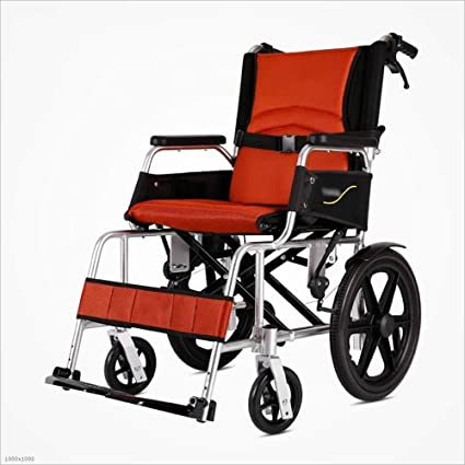MODYL Sillas De Ruedas Plegables Portátiles para Adultos Mayores Discapacitados Aleación De Aluminio Ultraligero Portátil Caminar