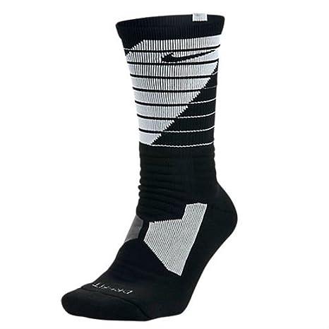 Nike Hyper Elite Power Up baloncesto calcetines negro/blanco grande 8 – 12