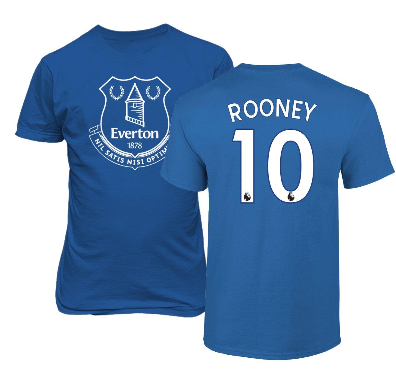 Amazon.com   Everton Wayne Rooney  10 Jersey Shirt Soccer Football Men s T- Shirt   Sports   Outdoors 2911439e8
