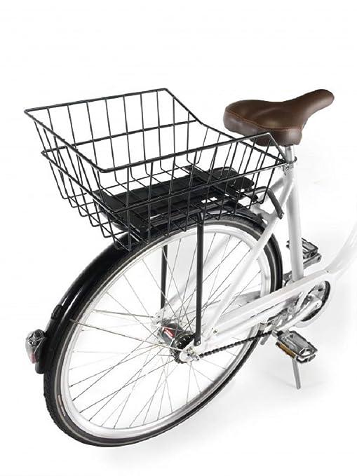 Ducomi Cesta Bicicleta Trasera Universal - Adultos, Niños o Perros (41 x 26 x 20 cm) Cesta Almacenaje de Metal Resistente a Oxidación - Bicicletas ...