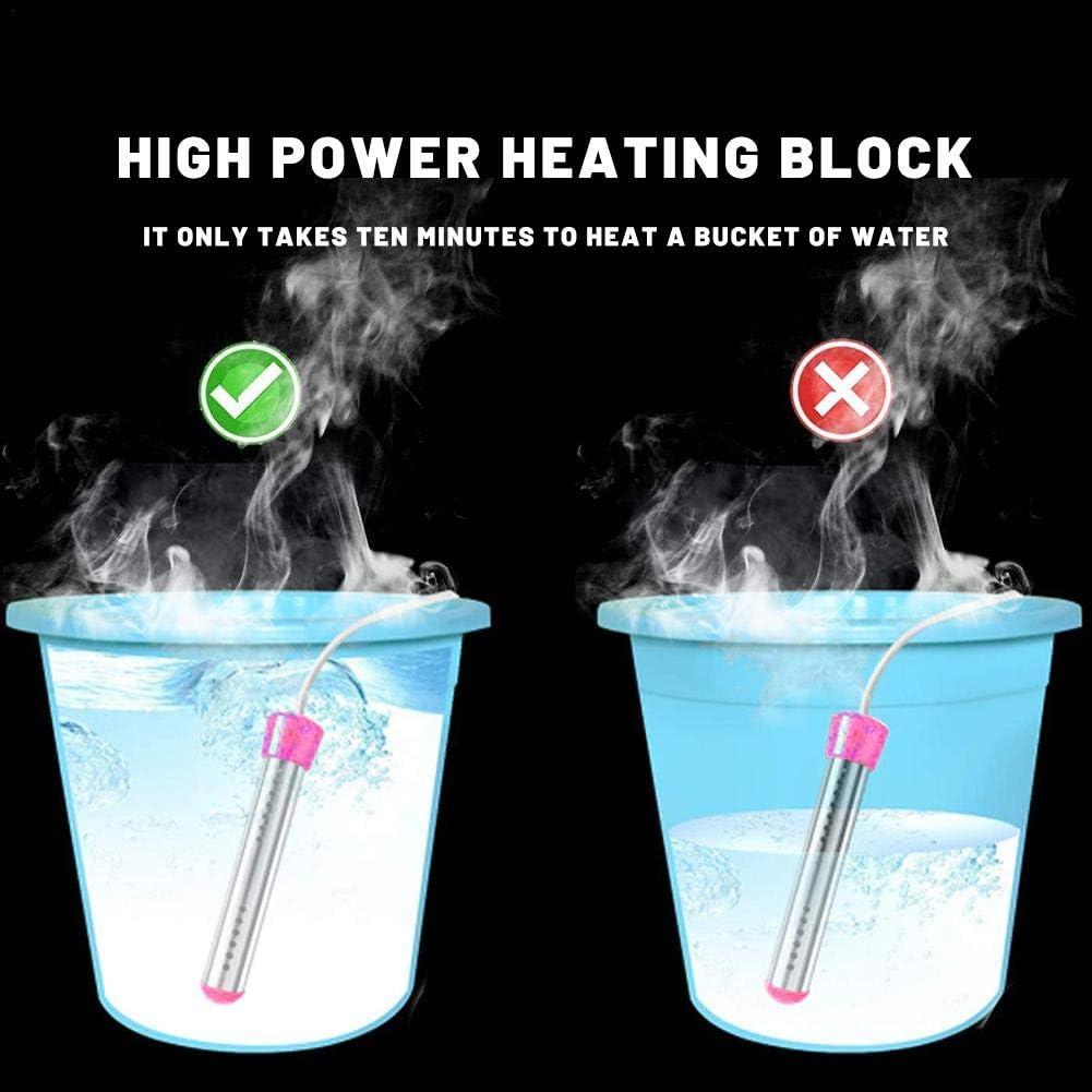 BRANDNEWS Calentador de inmersi/ón de 3000 W Calentador de Agua port/átil con funci/ón de Temperatura Constante y funci/ón de Apagado autom/ático calienta 5 galones de Agua en Minutos