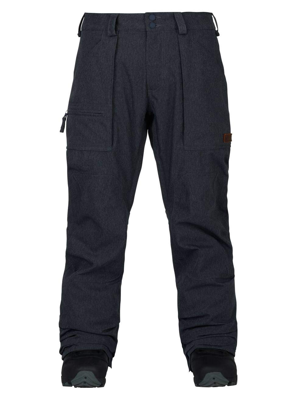 Burton Southside Regular Fit Ski Snowboard Pants Denim, Men's Large Men' s Large 10192104401