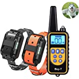 Buy-T Rechargeable Electronic Dog Training Collar 870 yards Remote control (2018 latest update) 100% IPX7 Waterproof Dog Training Collars with Beep, Vibration and Shock, for Puppy All sizes Dogs