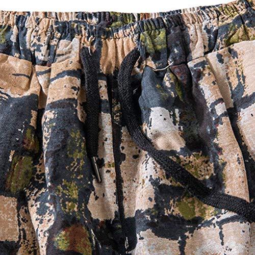 Battercake Impresión De Pantalones Cómodo Harén Sueltos Hombres Casuales Vintage Als Los Bild Cortos Verano 8 Con Moda 7 Hippie Cordón r5RrIwq