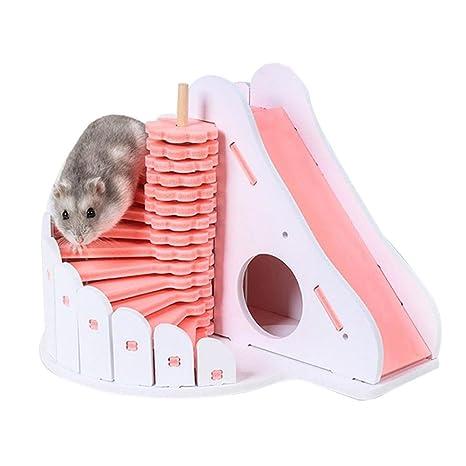 soundwinds Hamster House - Jaula para Dormir con balcón Redondo, Juguete para Jugar a Animales
