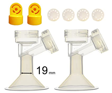 Maymom Breast shield w//Valve and Membrane for Medela Breast Pumps 19 mm 1-Piece