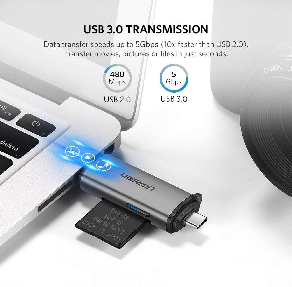 Amazon.com: UGREEN - Lector de tarjetas SD USB tipo C USB ...