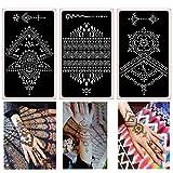 Xmasir Pack of 16 Sheets Henna Tattoo