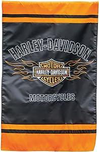 Harley-Davidson Bar and Shield Flames House Flag
