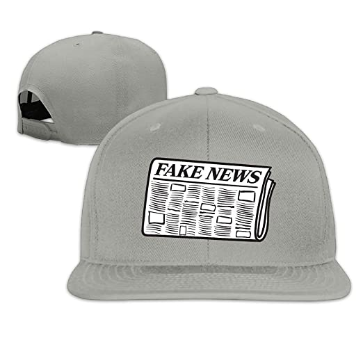 Amazon.com  Quzim Plain Logo Baseball Cap Polo Safari Dad Hat Newspaper  Full Of Fake News  Clothing bfe45f2ab493