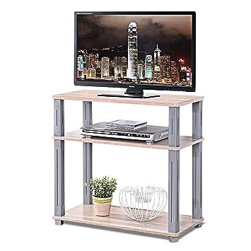 COSTWAY Mesa para TV Mueble Estante Soporte Televisor Salón Estantería Almacenamiento para CD Libros: Amazon.es: Electrónica