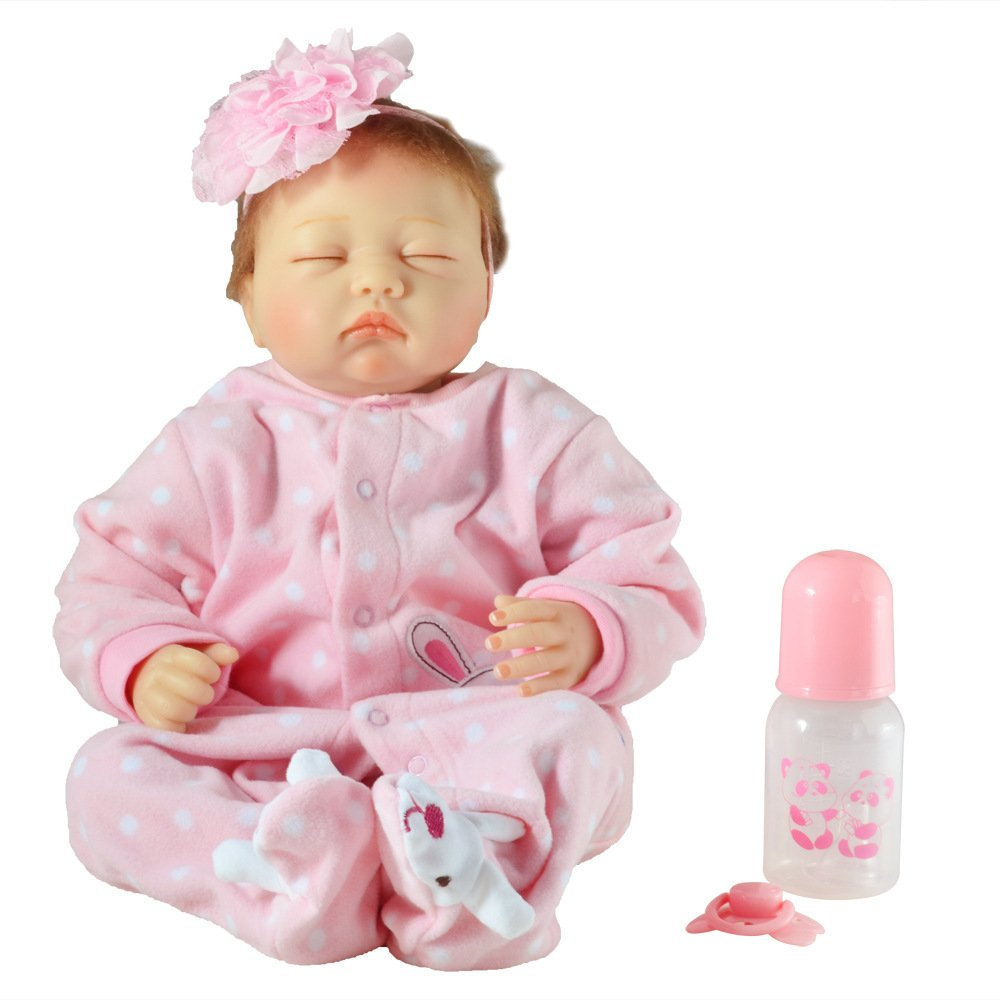 todos los bienes son especiales LIJUN Muñeca De Simulación Reborn Doll Toy Toy Toy De Los Niños 55cm22 Pulgadas Cerrado Eye Doll,55cm  barato y de moda