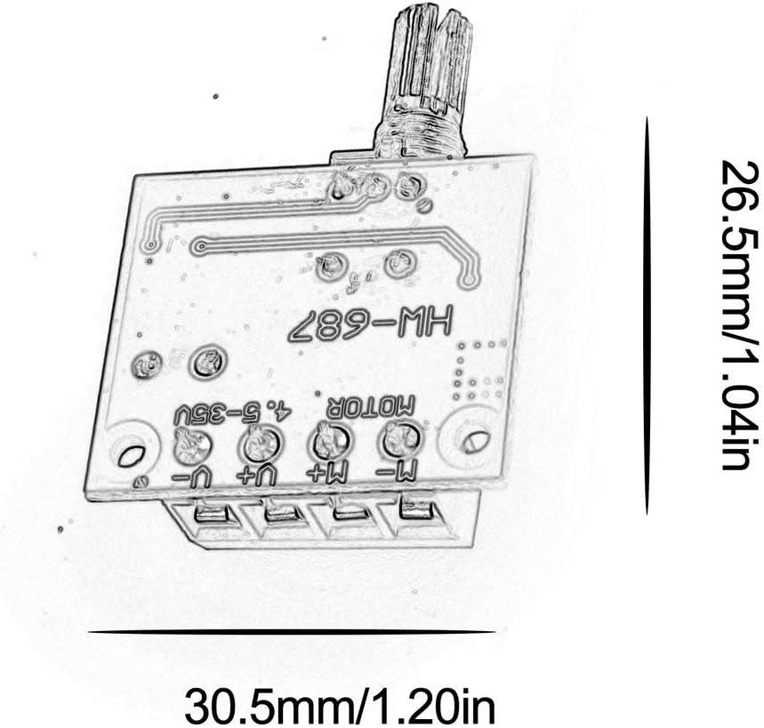 Dengc R/égulateur de Moteur /à Courant continu PWM r/égulateur de Moteur /à Courant continu 5 V-25 V commutateur de Vitesse 5A Fonction de Commutation variateur de LED-Bleu
