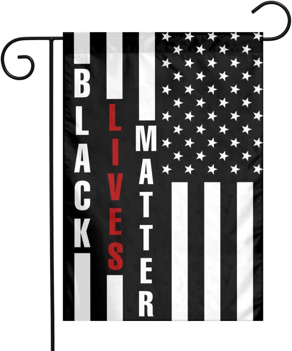 Black Lives Matter Flag Small Black and White American Flag Garden Flag 12x18 Double Sided Outdoor American Garden Flags for Patio Lawn Yard Home Decor