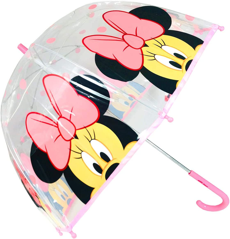 Paraguas Transparente C/úpula Paraguas Infantil Paraguas Manual Paraguas Minnie Paraguas Ni/ña 46cm Rojo