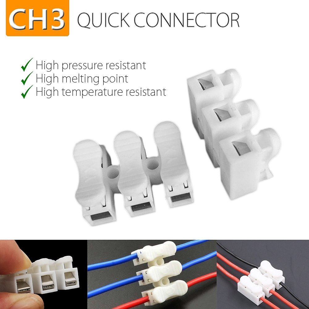 Amazon.com: HIFROM CH3 Spring Wire Quick Connector Electrical Cable ...