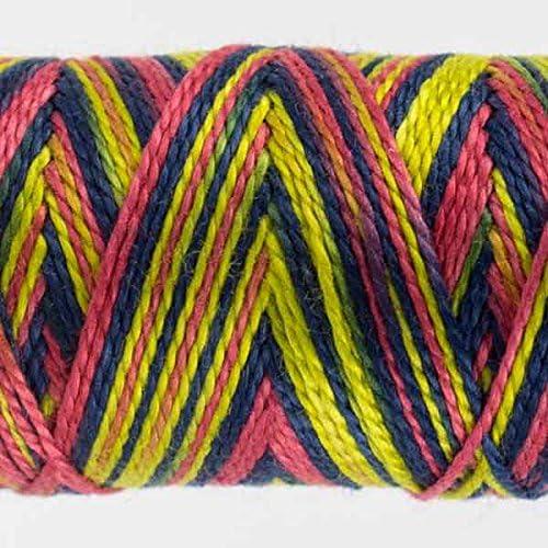 Wild Card #40 WonderFil Specialty Threads Sue Spargo Eleganza 2-ply #8 Perle Cotton Variegated