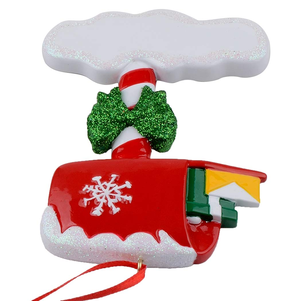 MAIL BOX PERSONALIZED CHRISTMAS ORNAMENT