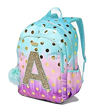 e10f6329f4cc Justice School Backpack Dot Ombre Foil Letter Initial (B)