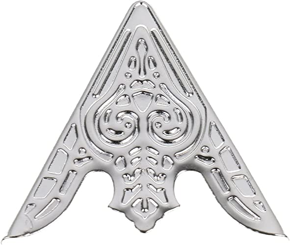 Generic 6 Metall-Kragen Clips-silber 3,5cm