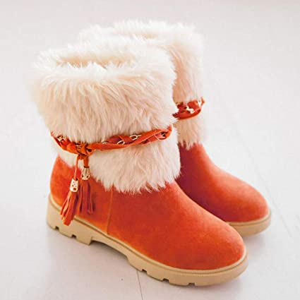 1e25d6e3fb53d Amazon.com: Hy Women's Snow Boots Boots Winter Suede Warm Windproof ...