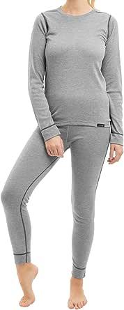 CFLEX - Set de Ropa térmica y para esquí para Mujer - Camiseta y pantalón - Tecnología POLARDY - Calidad de celodoro Tallas de la S a la XL