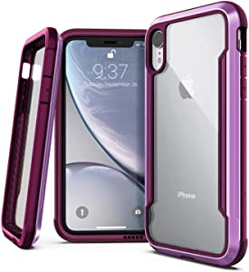 Raptic Shield, Compatible with Apple iPhone XR (Formerly Defense Shield) - Military Grade Drop Tested, Anodized Aluminum, TPU, and Polycarbonate Protective Case for Apple iPhone XR, Purple