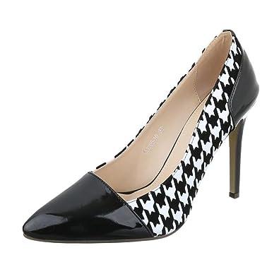 ebc4d409943872 Cingant Woman Damen Pumps Stilettoabsatz High Heels Damenschuhe Elegante  Schuhe Kariert