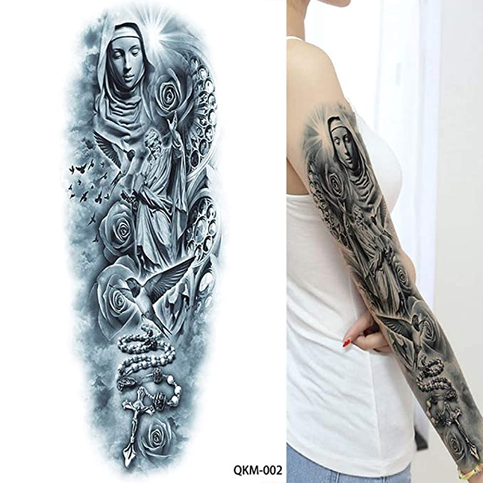 tzxdbh - 5 Tatuajes de Brazo Completo de Color Negro Realista ...