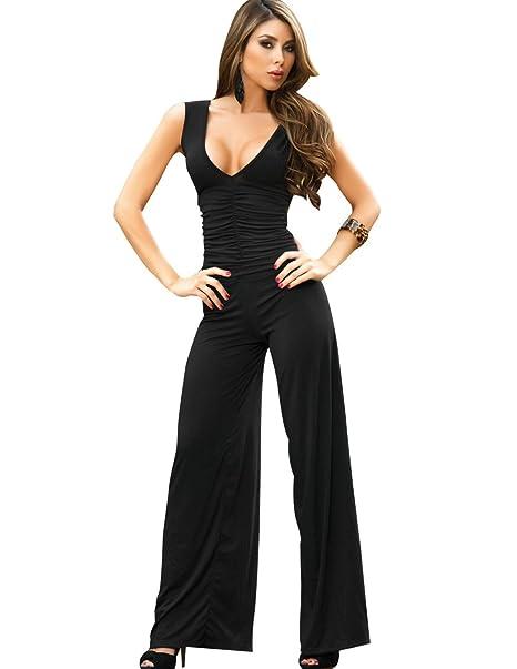 pretty nice 8336b ca295 AM:PM by Espiral Negra Vestito Pantalone Nero XL: Amazon.it ...