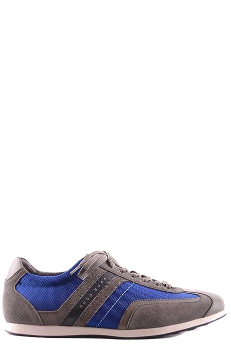 Hugo Boss Hombre Mcbi029013o Azul/Gris Tela Zapatillas: Amazon.es: Zapatos y complementos