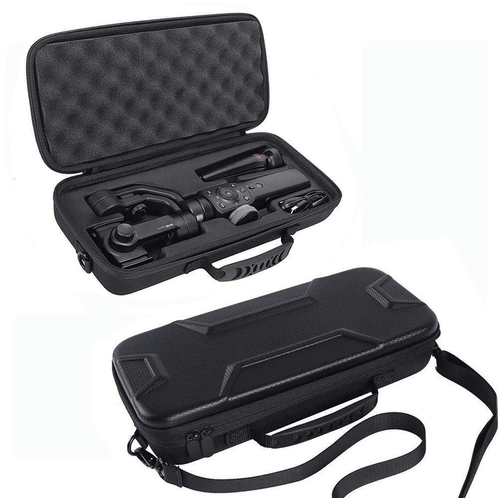 Hard Travel Case for Zhiyun Smooth 4 Handheld Gimbal Stabilizer,Tripod Stand Carry Bag Protective Box Handbag (Black)