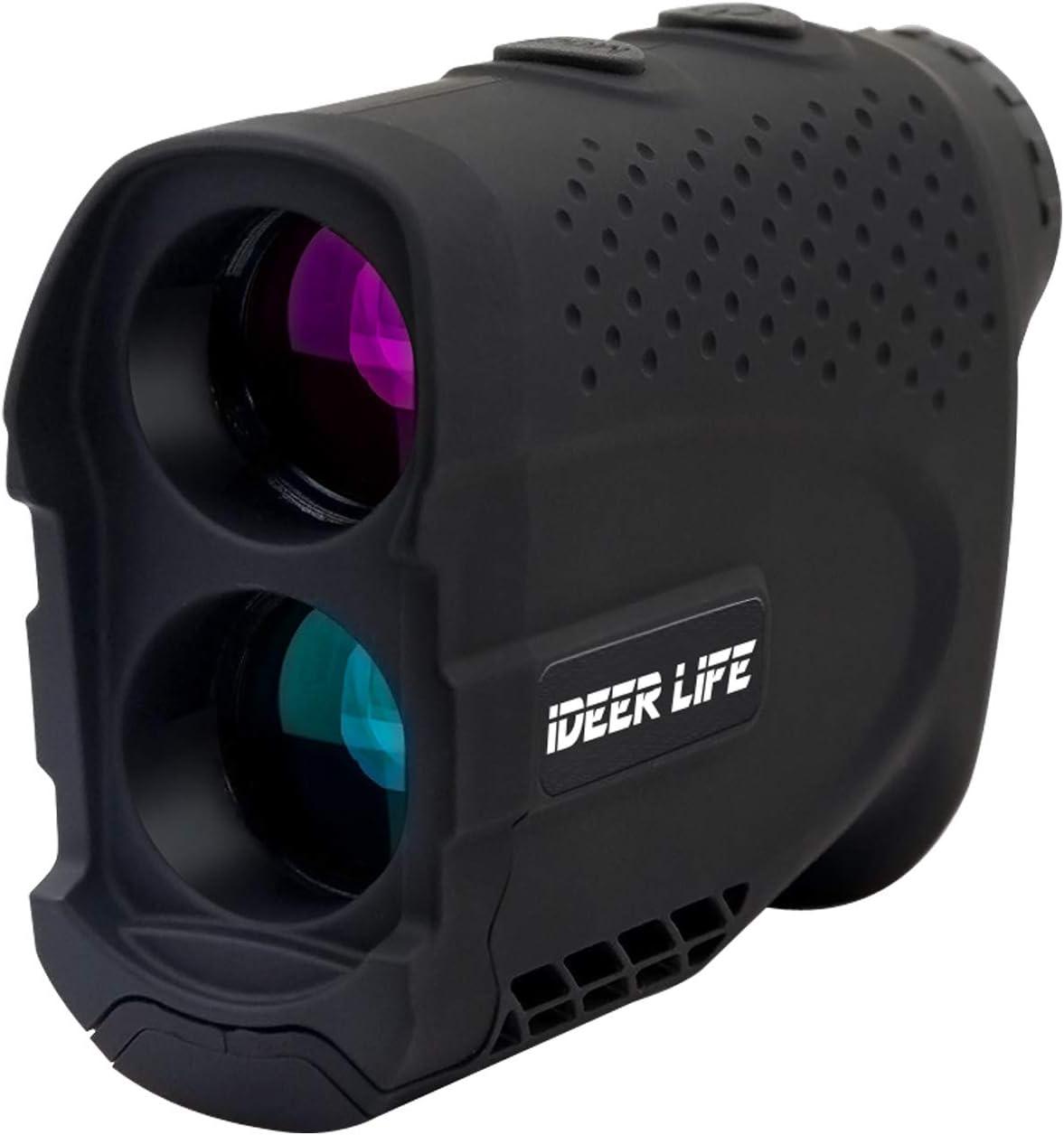 Golf Rangefinder, 6X Golf Laser Rangefinder 900 Yards with Fast Flag-Lock,Slope Tech, 4 Scan Mode,Angle Speed Measurement,Tournament Legal Golf Rangefinder range finder for Golf Hunting Outdoor.IDEER