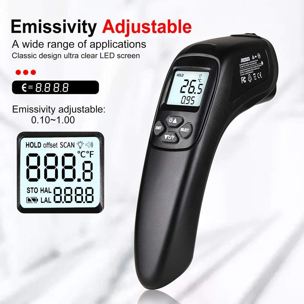 Kecheer Termometro industriale infrarossi,Termometri industriale digitale intelligente NON per umani -50 ℃ ~ 600 ℃