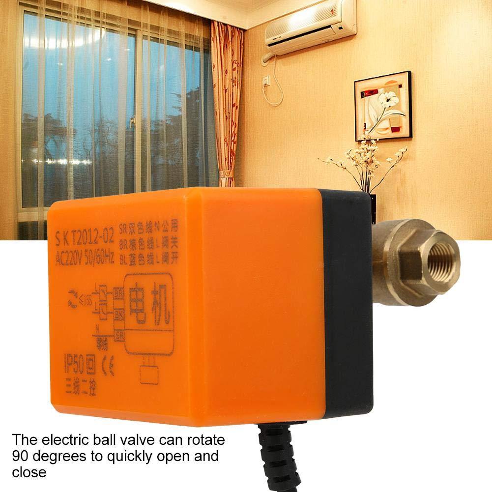 Klimaanlagen 3 Leiter 2 Punkt Steuerung AC 220 V G3 // 8- G1 // 2 DN10- DN15 2 Wege Kugelhahn f/ür Heizungs- Fu/ßbodenheizungssysteme Elektrischer Kugelhahn Solaranlagen