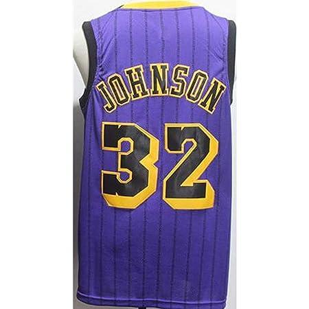CCKWX Lakers # 32 Earvin Johnson Baloncesto Jersey De Baloncesto ...